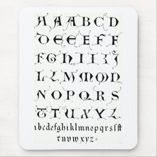 Fancy Alphabet - MOUSEPAD