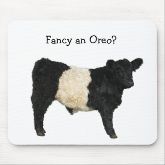 Fancy an Oreo? Belted Galloway Cow Mouse Pad