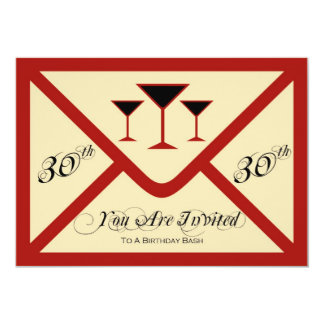 Fancy and Fun 30th Birthday Party Invitation