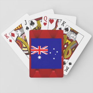 Fancy Australia Flag on red velvet background Card Decks