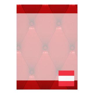 Fancy Austria Flag on red velvet background 13 Cm X 18 Cm Invitation Card