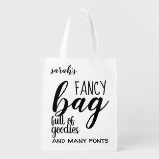 Fancy Bag Full of Goodies Quote Reusable Bag