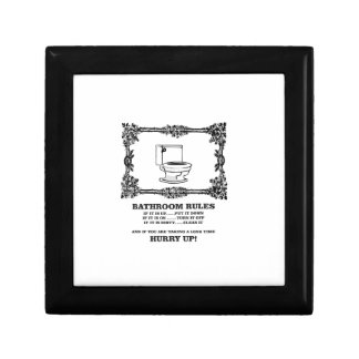 fancy bathroom rules small square gift box