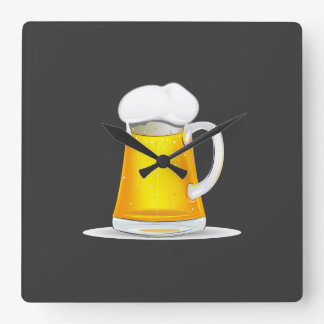 Fancy Beer Clock. Square Wall Clock