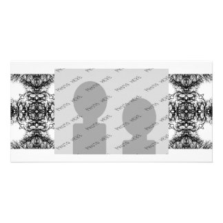 Fancy Black and White Pattern Photo Greeting Card