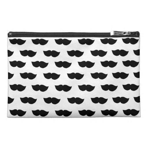 Fancy Black Moustaches Travel Accessory Bag