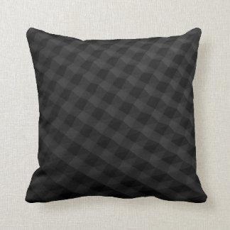 Fancy black patterned pillow