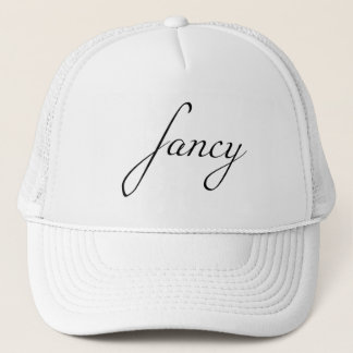 Fancy - Black Trucker Hat