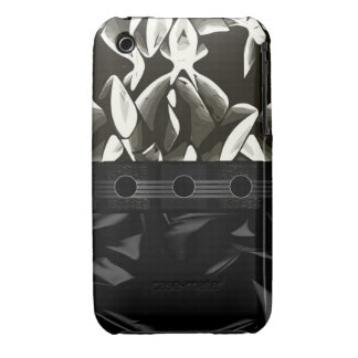 Fancy Black White Abstract iPhone 3 Cover