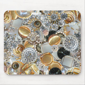 Fancy Bling Buttons Collage Mouse Pad