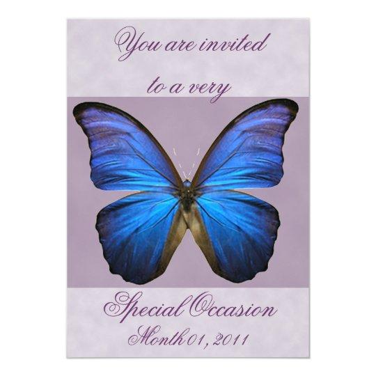 Fancy Blue Morpho Butterfly Invitations
