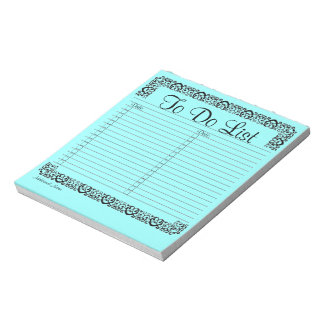 Fancy Blue To Do List Notepad