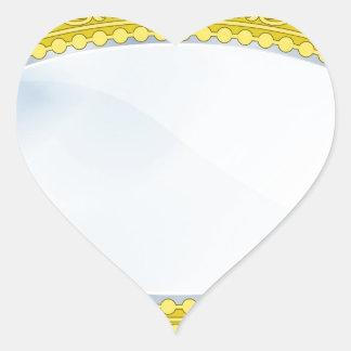 Fancy Boutique Mirror Heart Stickers