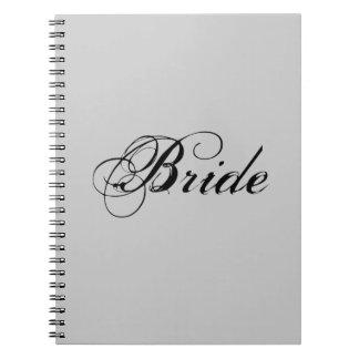 Fancy Bride On Grey Note Books