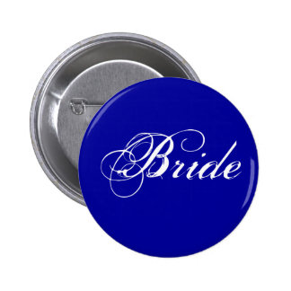 Fancy Bride On Navy 6 Cm Round Badge