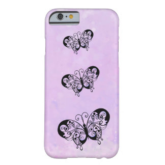 Fancy Butterflies on a Soft Pink Background Barely There iPhone 6 Case