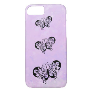 Fancy Butterflies on a Soft Pink Background iPhone 7 Case