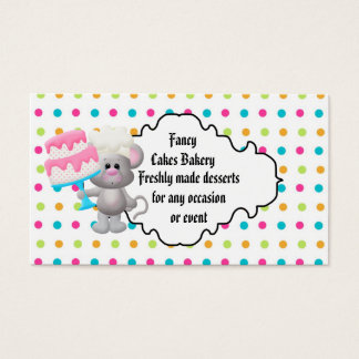 Fancy cakes Bakery Business card