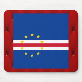Fancy Cape Verde Flag on red velvet background Mouse Pad