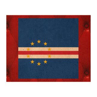 Fancy Cape Verde Flag on red velvet background Cork Fabric