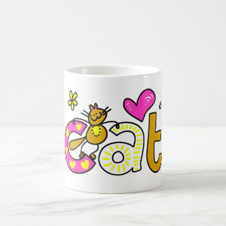 Fancy Cat - Word Print Coffee Mug