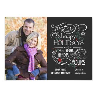 Fancy Chalkboard Happy Holidays Flat Cards 11 Cm X 16 Cm Invitation Card