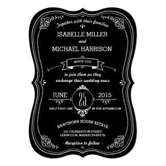 Fancy Chalkboard Vintage Bracket Wedding 13 Cm X 18 Cm Invitation Card