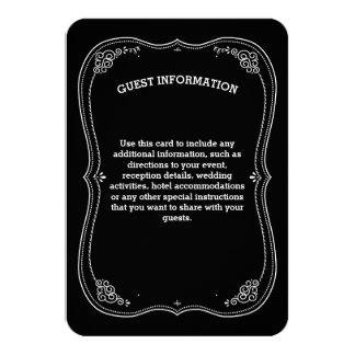 Fancy Chalkboard Vintage Wedding Guest Information 9 Cm X 13 Cm Invitation Card