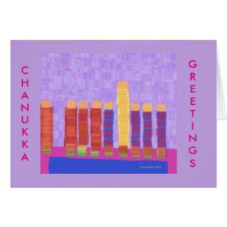 Fancy Chanukkah Menorah greeting card