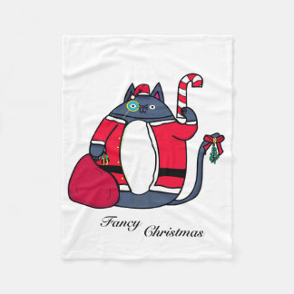 Fancy Christmas Fleece Blanket