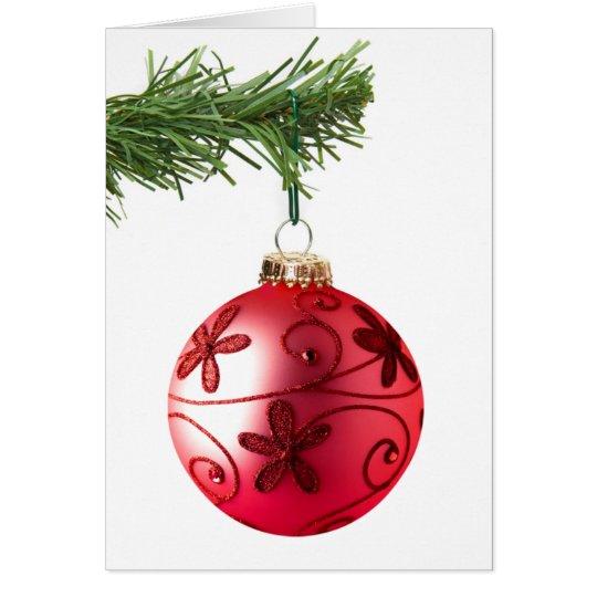 Fancy Christmas Ornament Card