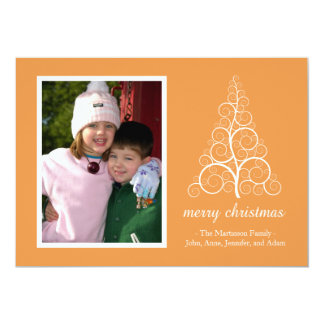 Fancy Christmas Tree Card (Gold) 13 Cm X 18 Cm Invitation Card