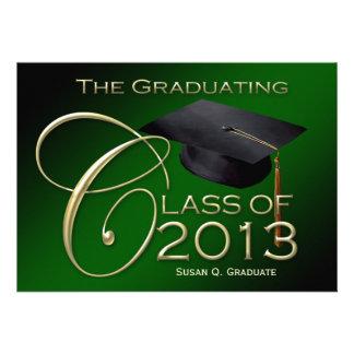 Fancy Class of 2013 Green Graduation Announcement