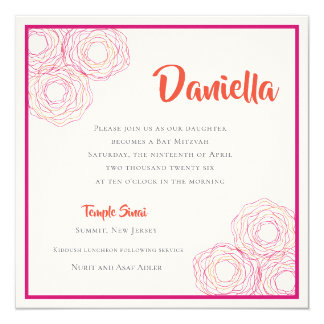 Fancy Colorful Hamsa Invitation
