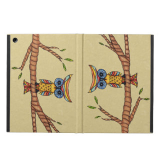 Fancy Colorful Owl Tree Branch iPad Air Covers