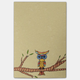 Fancy Colorful Owl Tree Branch Post-it Notes