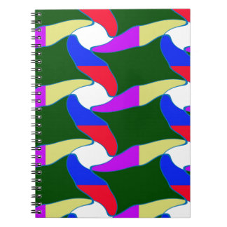 Fancy Colorful Paper Craft Ropes Print on shirts Spiral Note Book