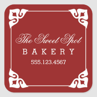 Fancy Corners Bakery Stickers / Red