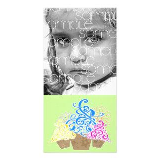 FANCY CUPCAKES PHOTOCARD CUSTOMISED PHOTO CARD