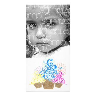 FANCY CUPCAKES PHOTOCARD PICTURE CARD