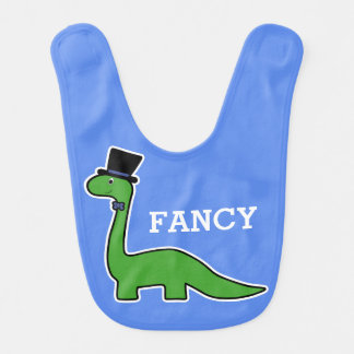 Fancy Cute Green Dinosaur Bib