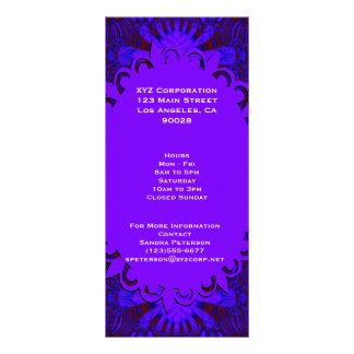 Fancy Dark Purple Abstract Design Custom Rack Card