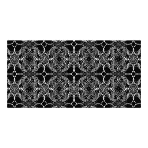 Fancy Decorative Pattern in Black and White. Photo Card