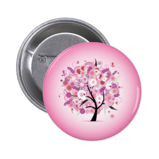 Fancy Decorative Tree Button Badge