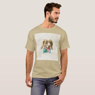 Fancy Dog Perro Bowtie Watercolor Rare T-Shirt