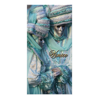 Fancy Dress Couple Costumes Photo Greeting Card