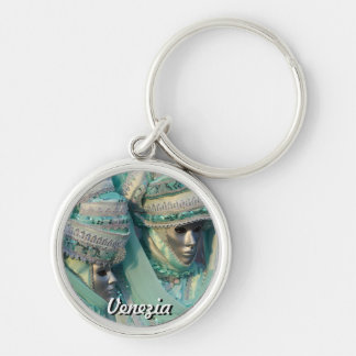 Fancy Dress Couple Costumes Silver-Colored Round Key Ring