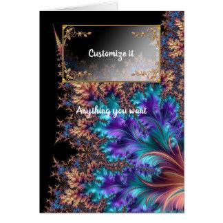 Fancy Elegant Fractals With Cool Mandala Patterns Card