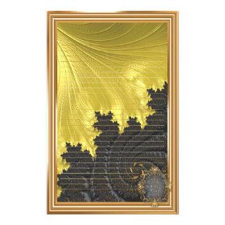 Fancy Elegant Fractals With Cool Mandala Patterns Stationery