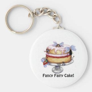 Fancy Fairy Cake! Keychain Basic Round Button Keychain